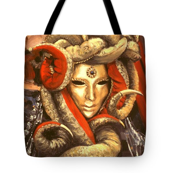 Venetian Mystery Mask Tote Bag by Michael Swanson