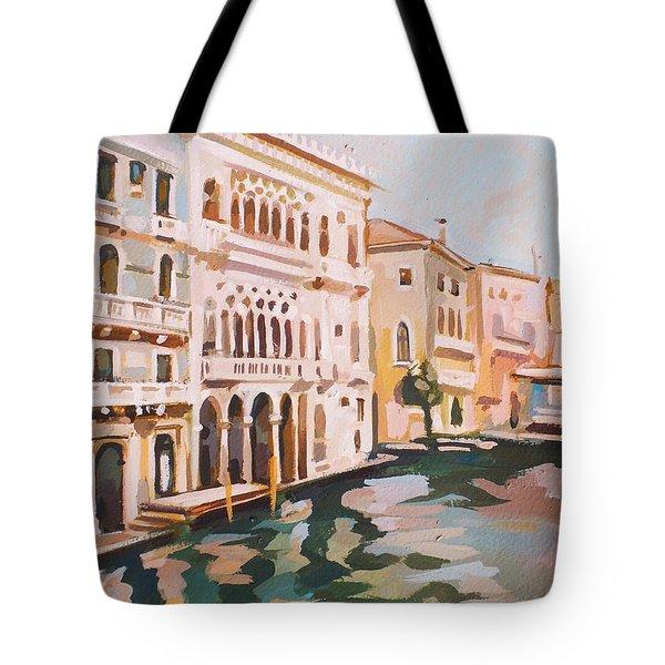 Venetian Palaces Tote Bag by Filip Mihail