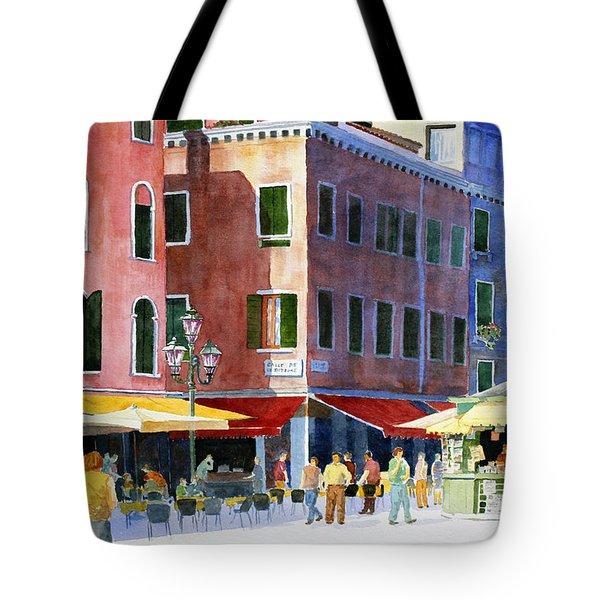Venetian Piazza Tote Bag