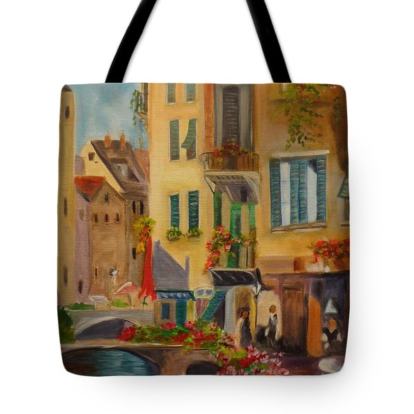 Venic Canal 1 Tote Bag by Jenny Lee