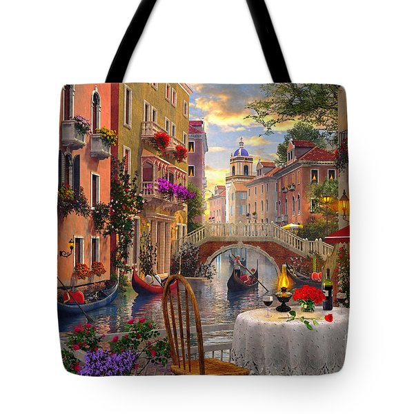 Venice Al Fresco Tote Bag by Dominic Davison