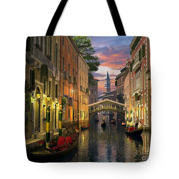 Venice At Dusk Tote Bag by Dominic Davison