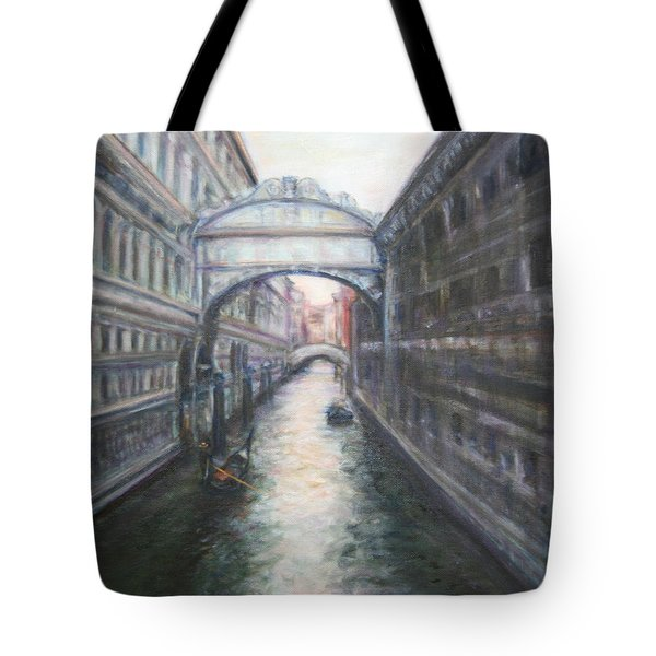 Venice Bridge Of Sighs - Original Oil Painting Tote Bag by Quin Sweetman