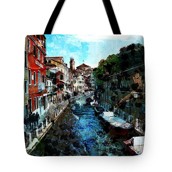 Venice Canal Tote Bag by Claire Bull