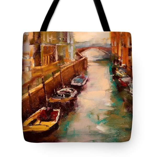 Venice Canal Tote Bag by David Patterson