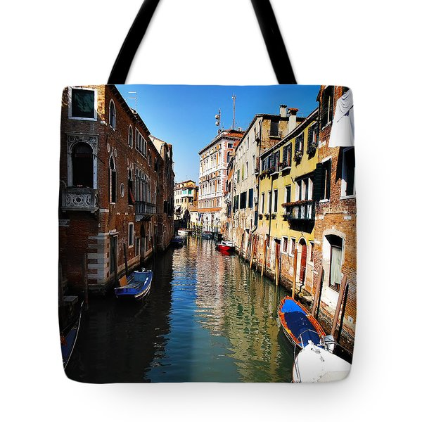 Venice Canal Tote Bag by Bill Cannon