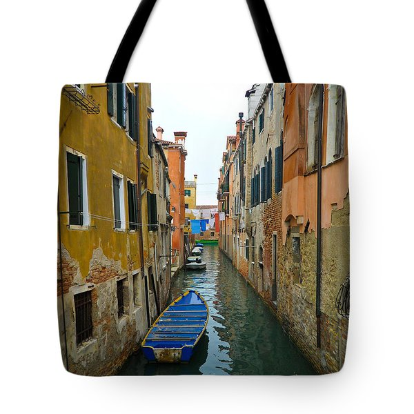 Tote Bag featuring the photograph Venice Canal by Silvia Bruno