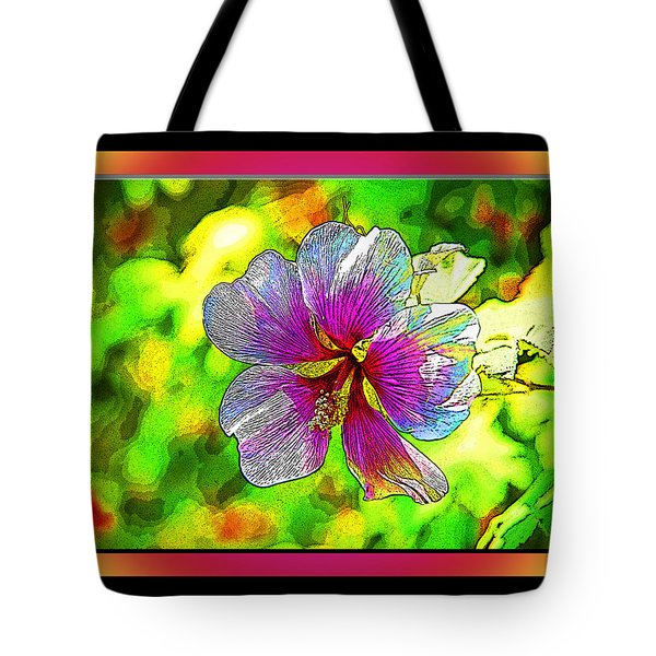 Venice Flower - Framed Tote Bag by Chuck Staley