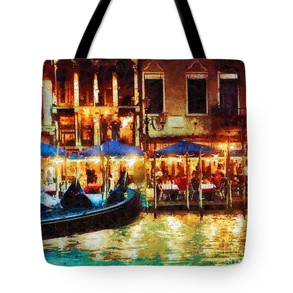 Venice Glow Tote Bag by Mo T