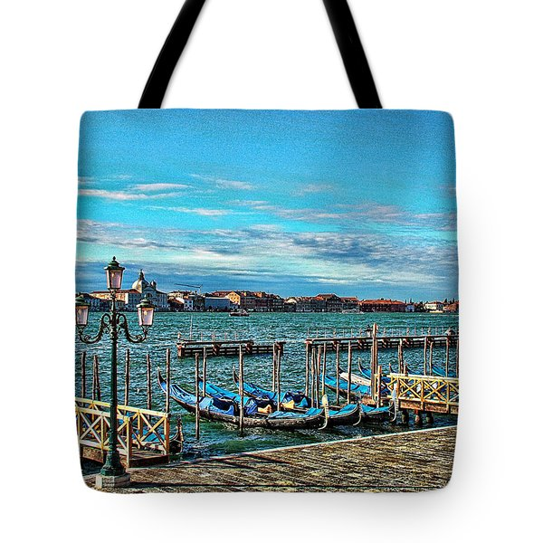 Venice Gondolas On The Grand Canal Tote Bag by Kathy Churchman