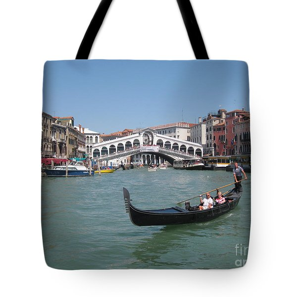Venice Gondolier Tote Bag by John Malone