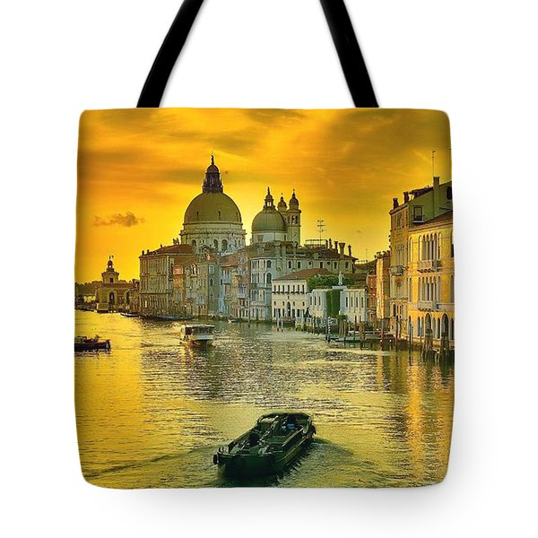 Golden Venice 3 Hdr - Italy Tote Bag