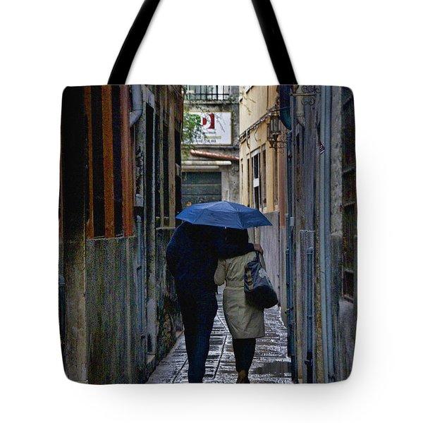 Venice In The Rain Tote Bag