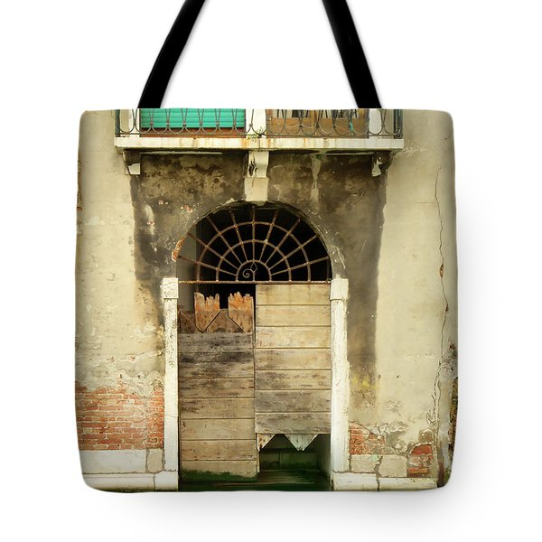 Venice Italy Boat Room Shutters Tote Bag