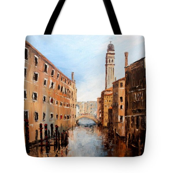Tote Bag featuring the painting Venice Italy by Jean Walker