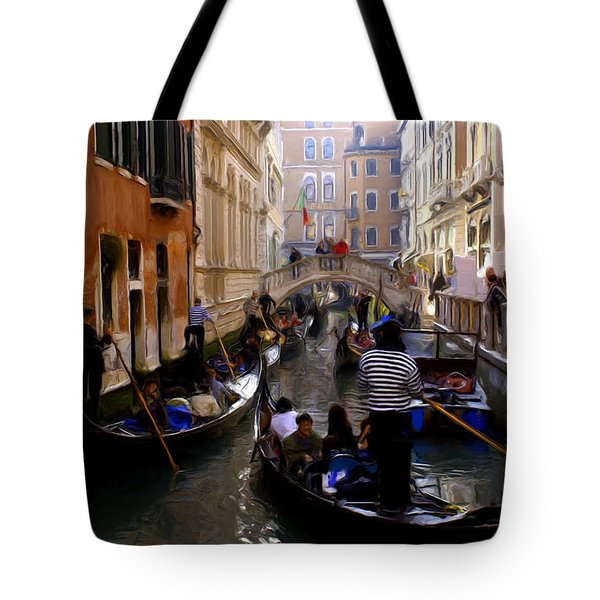 Tote Bag featuring the digital art Venice by Ron Harpham