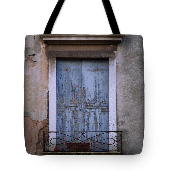 Venice Square Blue Shutters Tote Bag