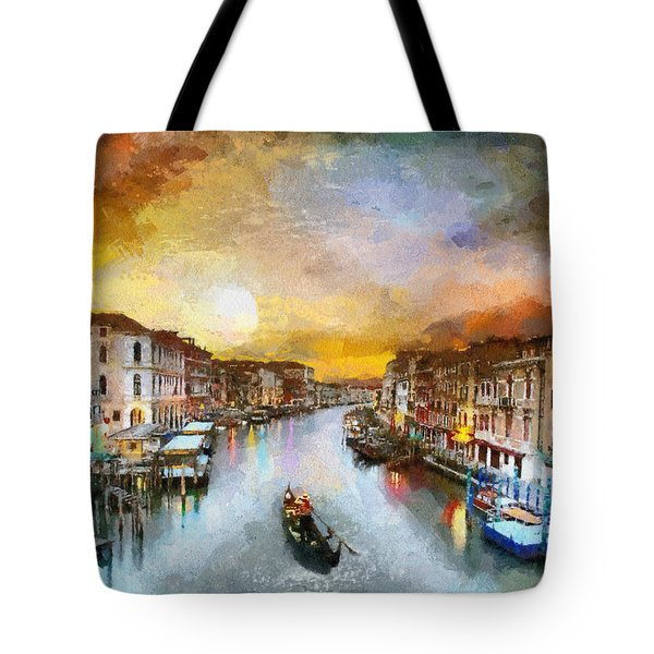 Sunrise In The Beautiful Charming Venice Tote Bag by Georgi Dimitrov