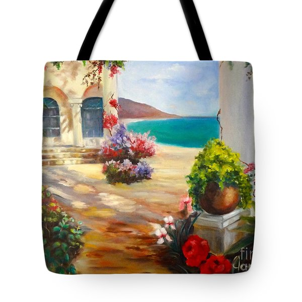 Tote Bag featuring the painting Venice Villa by Jenny Lee