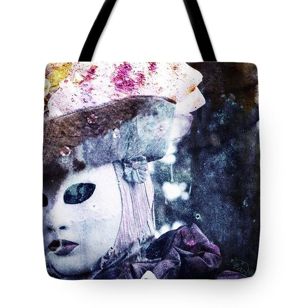 Tote Bag featuring the photograph Venitian Carnival - I Love Mystery by Barbara Orenya