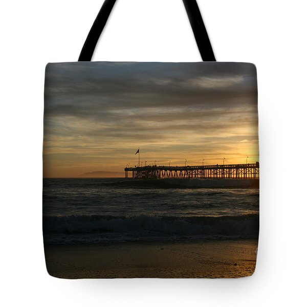 Ventura Pier 01-10-2010 Sunset  Tote Bag by Ian Donley
