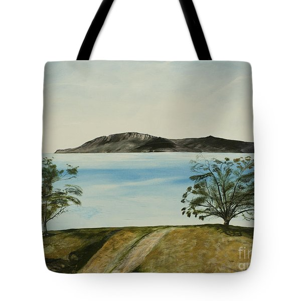 Ventura's Two Trees With Santa Cruz  Tote Bag