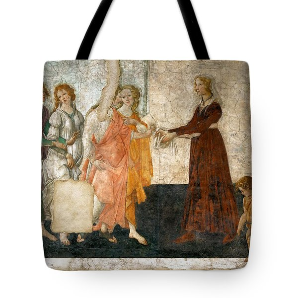 Venus And The Three Graces Offering Presents To A Young Girl Tote Bag