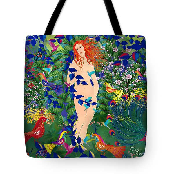 Venus At Exotic Garden Tote Bag by Gabriela Delgado