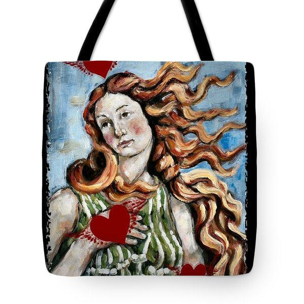 Venus On The Wing Tote Bag by Carrie Joy Byrnes