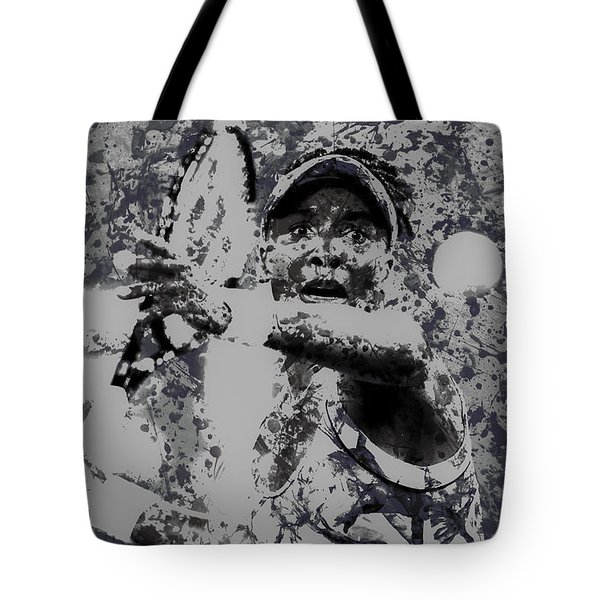 Venus Williams Paint Splatter 2e Tote Bag by Brian Reaves