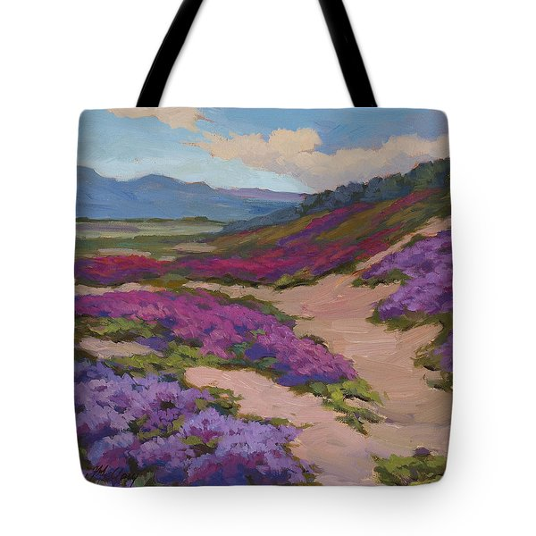 Verbena Harmony In Purple Tote Bag by Diane McClary