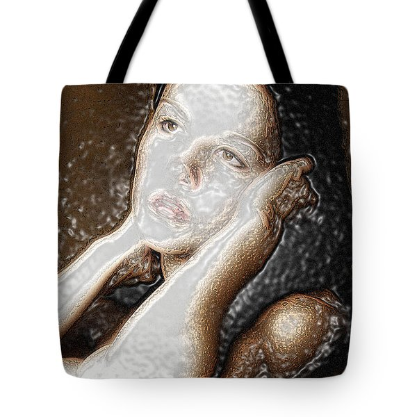 Tote Bag featuring the photograph Verity Unmasked by Richard Thomas