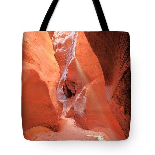 Vermilion Beam Tote Bag