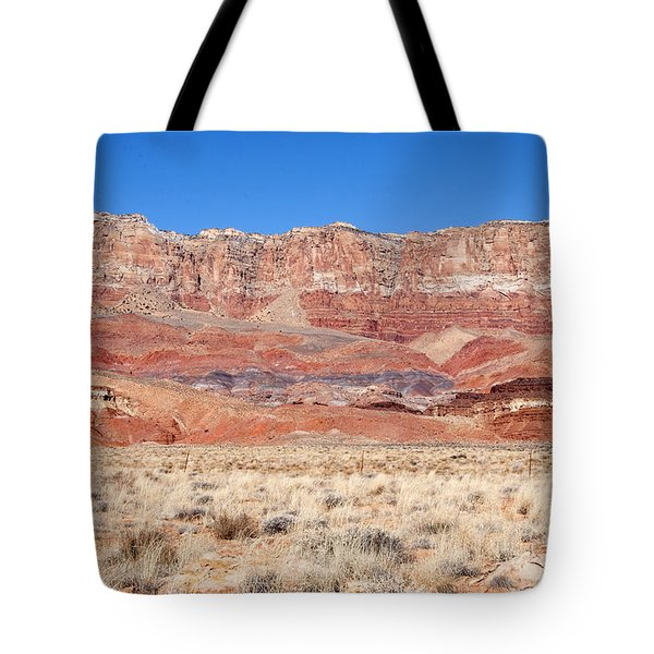 Tote Bag featuring the photograph Vermillion Cliffs Colors by Bob and Nancy Kendrick