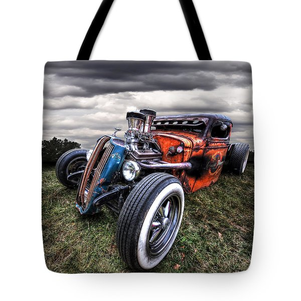 Vermin's Diner Rat Rod Front Tote Bag