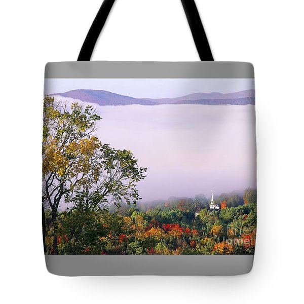 Tote Bag featuring the photograph Vermont Autumn Morning by Alan L Graham