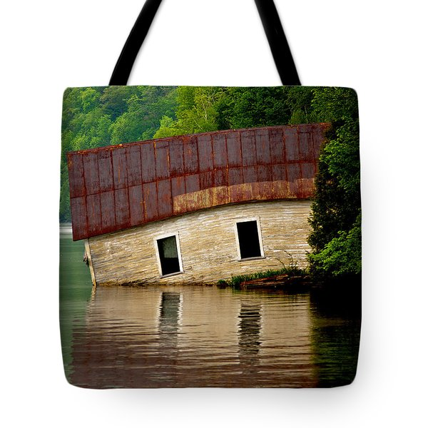 Tote Bag featuring the photograph Vermont Boathouse by John Haldane