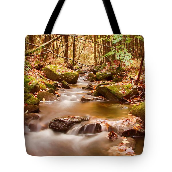 Tote Bag featuring the photograph Vermont Stream by Jeff Folger