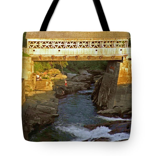 Vermont Swimming Hole Tote Bag