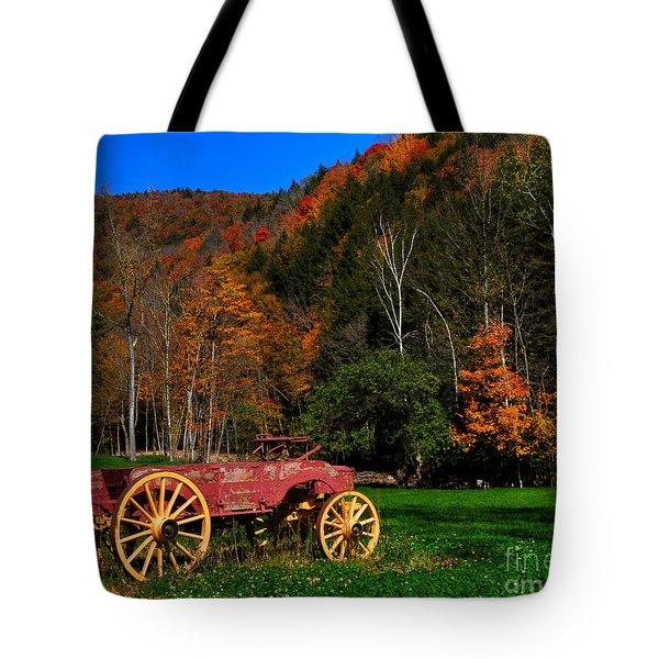 Vermont Wagon Tote Bag