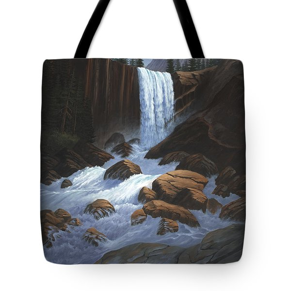 Vernal Falls Yosemite  Tote Bag