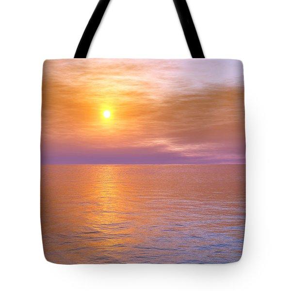 Tote Bag featuring the digital art Verona Beach by Mark Greenberg