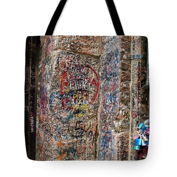Tote Bag featuring the photograph Verona Italy Locks Of Love by Robin Maria Pedrero