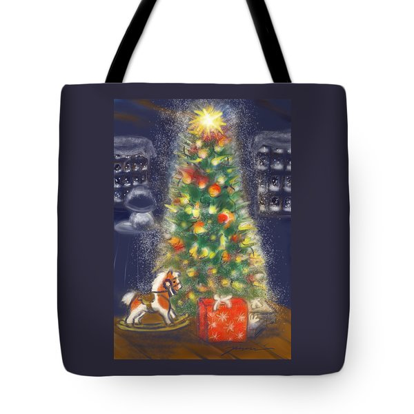 Veronicas Pony Rides Again Tote Bag by Jean Pacheco Ravinski