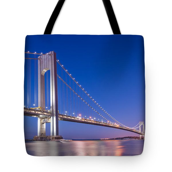 Verrazano Bridge Before Sunrise  Tote Bag