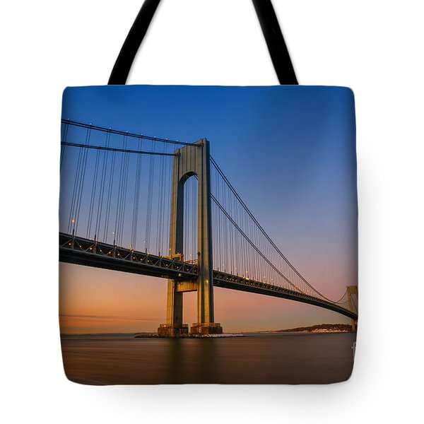 Verrazano Bridge Sunrise  Tote Bag