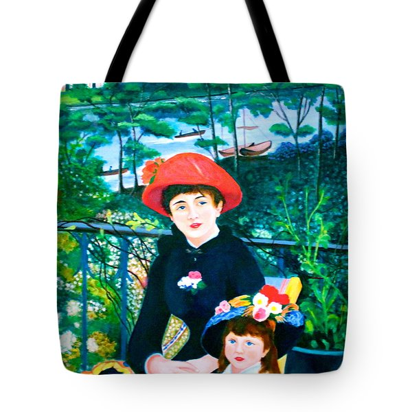 Version Of Renoir's Two Sisters On The Terrace Tote Bag by Lorna Maza