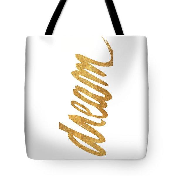 Vertical Gold Dream Tote Bag