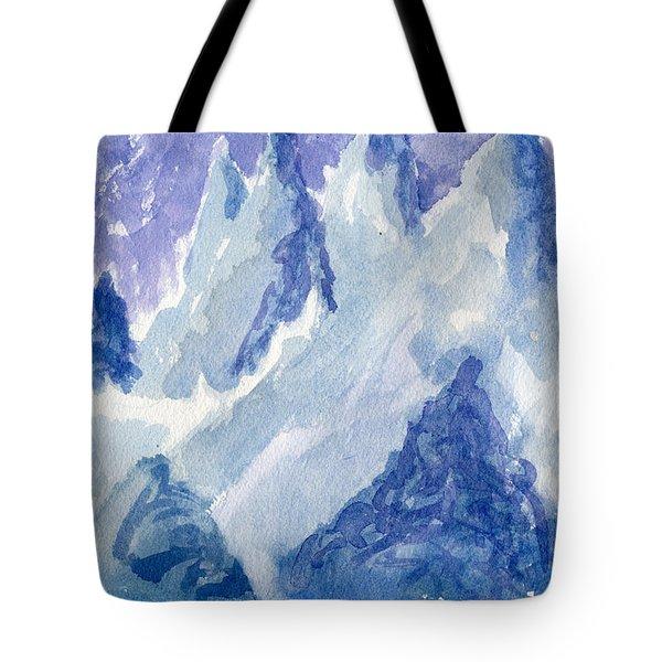 Vertical Horizons Tote Bag