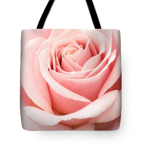Vertical Pink Rose Tote Bag
